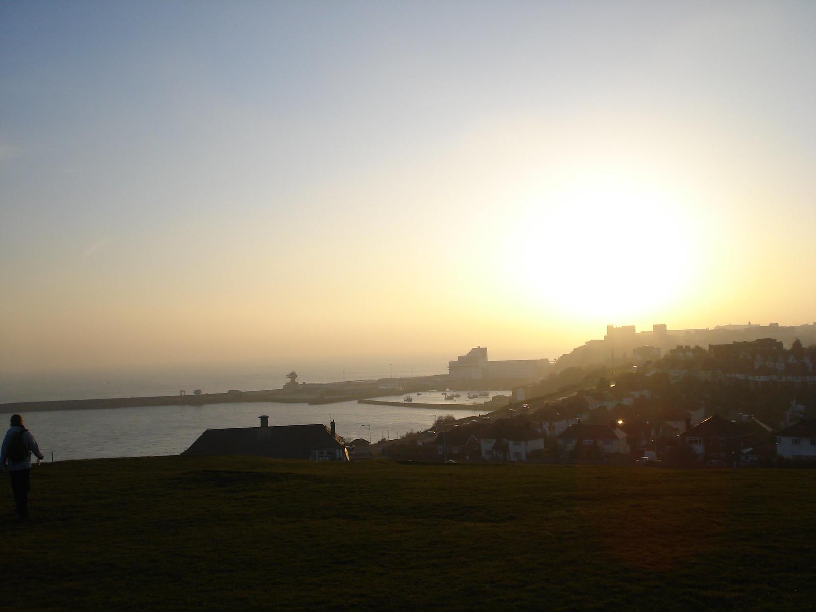 Sunset over Folkestone Extra walk 13: Folkestone circular