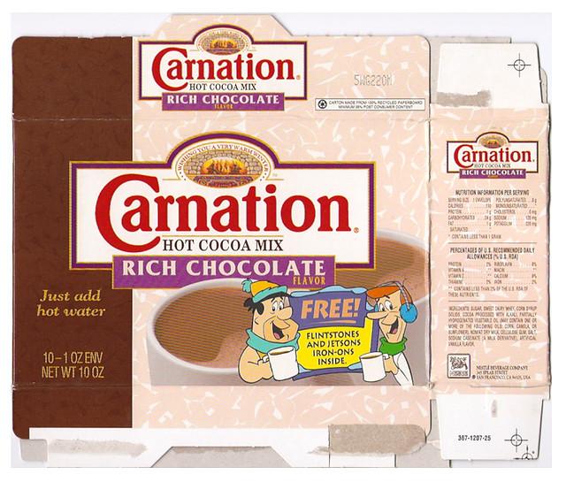 1992 Nestle Carnation Hot Cocoa Mix Box Flintstones Jetson Flickr