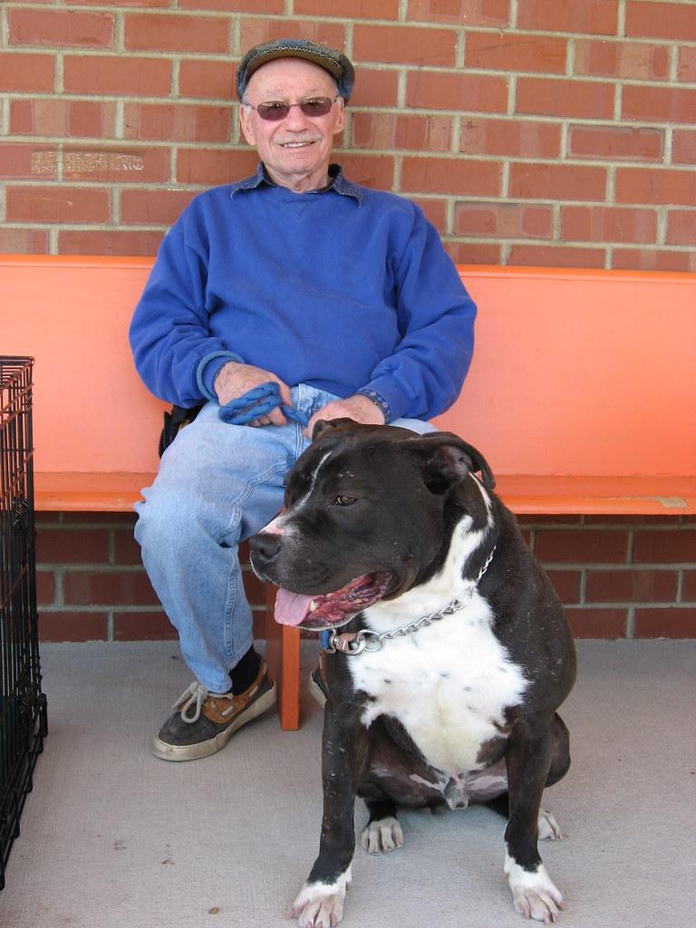 Orange County Humane Society Volunteer with Shelter Dog Ro