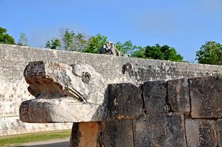 Mexico-5840 - Quetzalcoatl at Ball Court Entrance