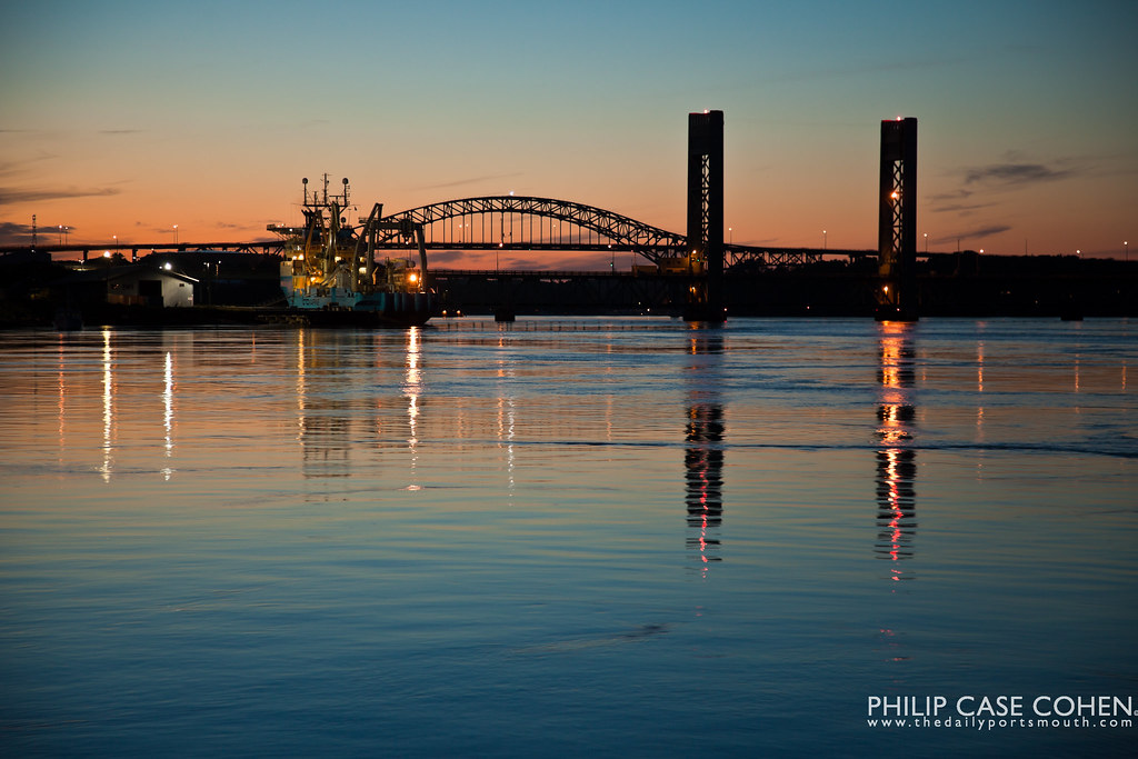 Dusk on the Piscataqua River by Philip Case Cohen