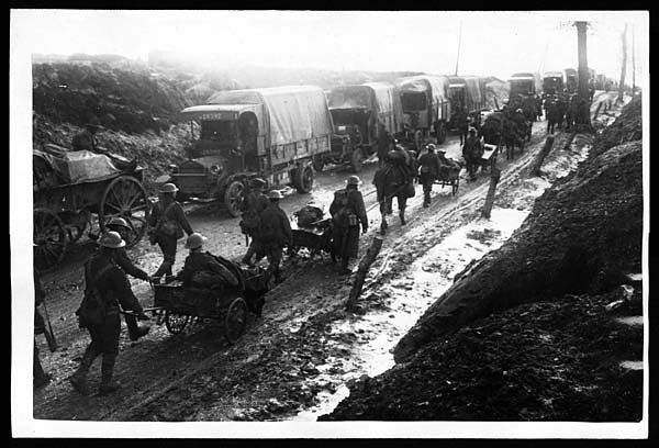 Middlesex returning from the trenches in the pouring rain