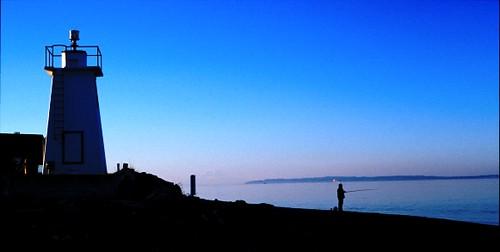 seattle blue usa film water architecture landscapes washington fishing lighthouses pugetsound canonae1program