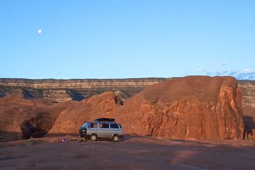 landscapes desert campsite vanagon