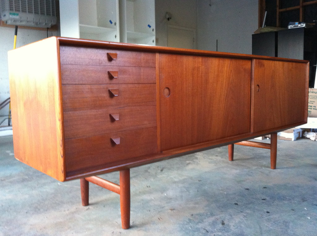 Danish Style Credenza : Danish modern credenza just refinished kurt Østervig credu flickr