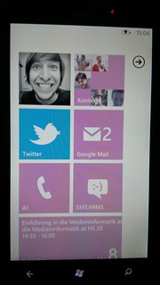 Windows Phone 7 pink Homescreen | by Luca Hammer