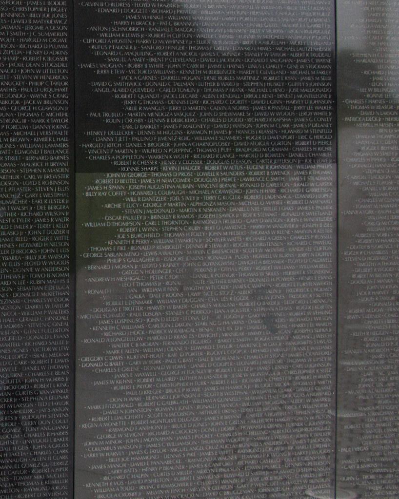 7274 Ronnie Sharpe, Vietnam Memorial, Washington, DC by John Prichard