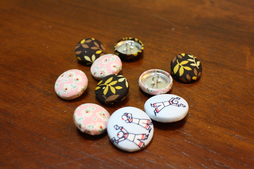 Giveaway #2: Example of completed buttons | by WhimsyLoft