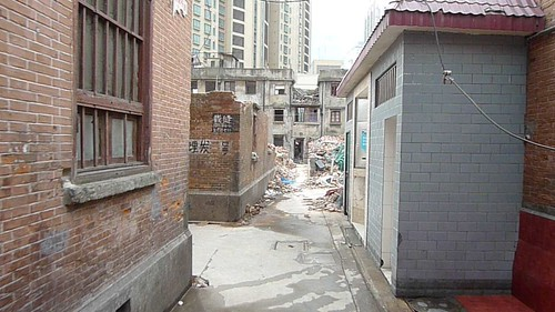 A walk down a lane off Wujiang Lu during demolition