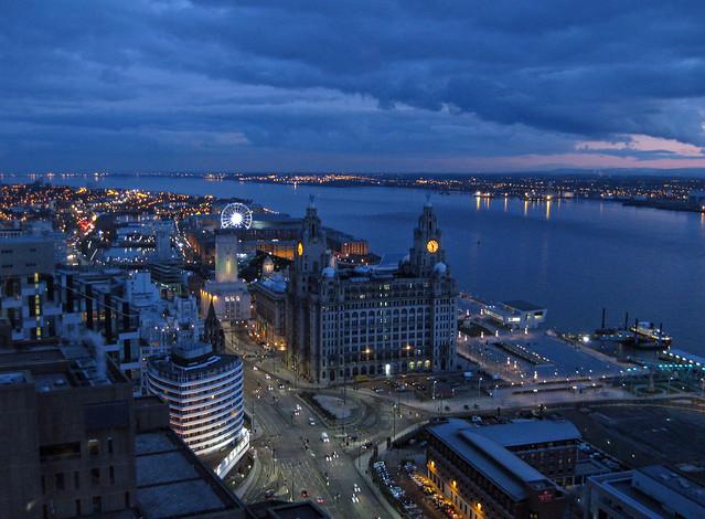 Night views over Liverpool