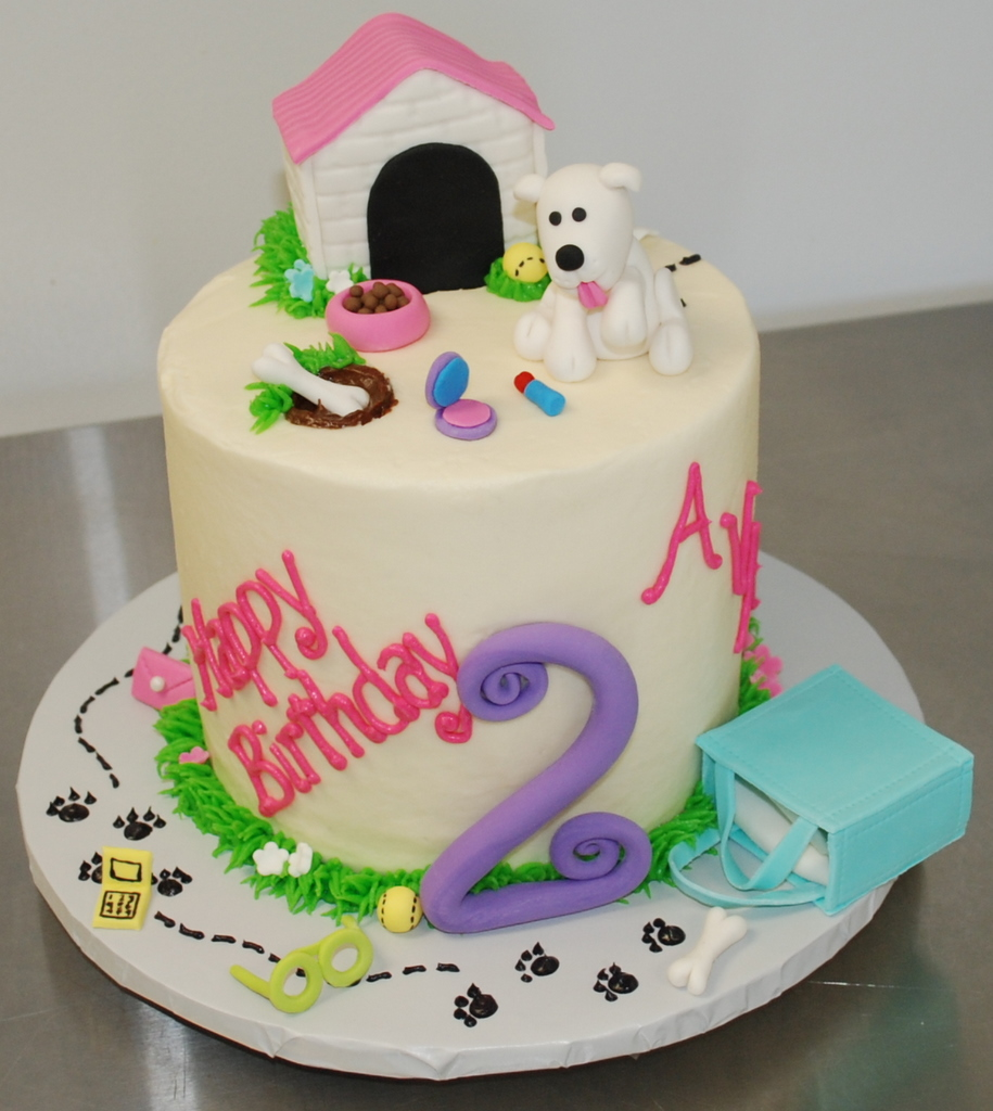 Phenomenal Puppy Birthday Cake Heres A Cake My Sister And I Worked O Flickr Funny Birthday Cards Online Necthendildamsfinfo