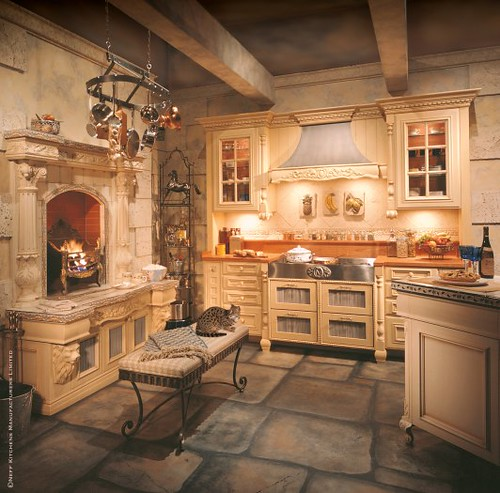 Traditional White Kitchen Design 3d Rendering: Classic Traditional Kitchen 16