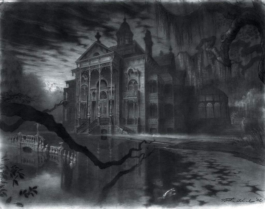 Image result for haunted house concept art