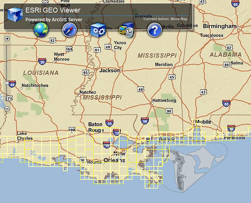 ESRI GeoViewer with Gulf of Mexico GIS datasets