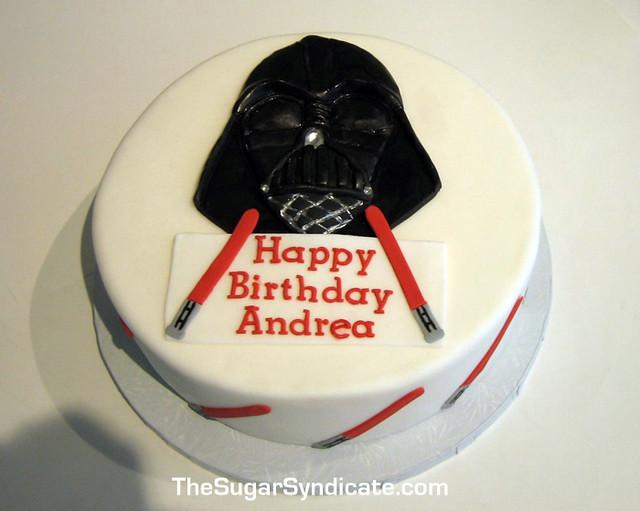 Outstanding Darth Vader Birthday Cake C The Sugar Syndicate Custom Cak Flickr Birthday Cards Printable Trancafe Filternl