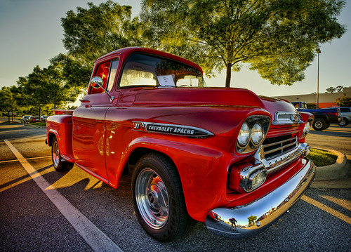 old red chevrolet truck spring apache lab south may deep auburn chevy canon5d hdr cruisers 2010 smörgåsbord photomatix labcolor ef1740mmf4lusm deepsouthcruisers topazadjust hz536n