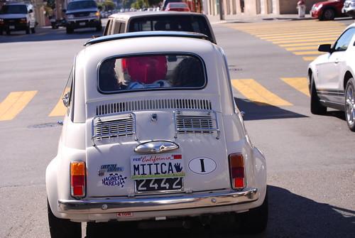 Fiat 500: One stylish set of wheels; small wheels.