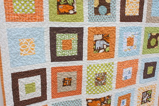 baby boy quilt close up | by amy smart
