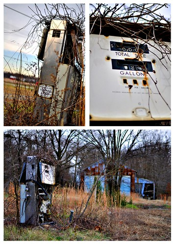 old overgrown 35mm nikon gas pump nikkor twigs d5000