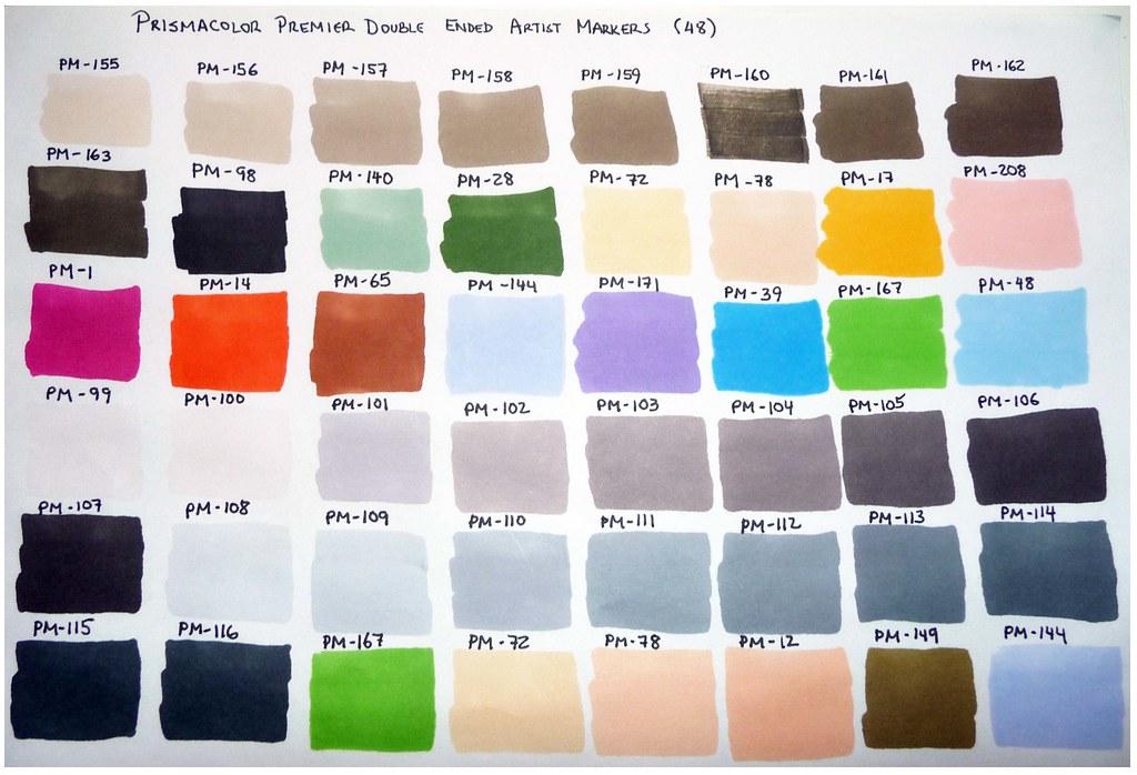 Prismacolor Premier Color Chart