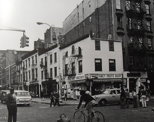 1960s NYC west greenwich village BLEECKER and CHRISTOPHER Street New York City Vintage Photo