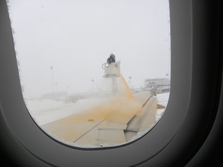 Plane Being De-Iced | by slgckgc
