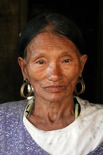 Konyak woman in the village of Totok Chingnyu, Nagaland