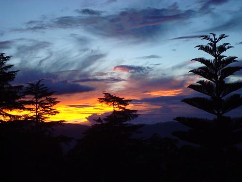 sunset weather scenery