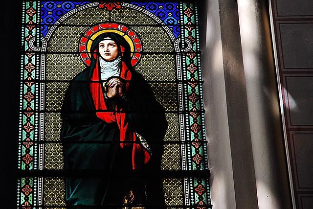 3 - 19 avril 2010 Paris Eglise Saint-Ambroise Vitrail Sainte-Monique