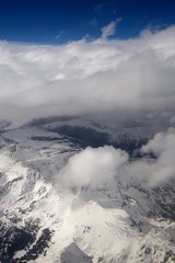 Photograph: The Rockies from the window seat