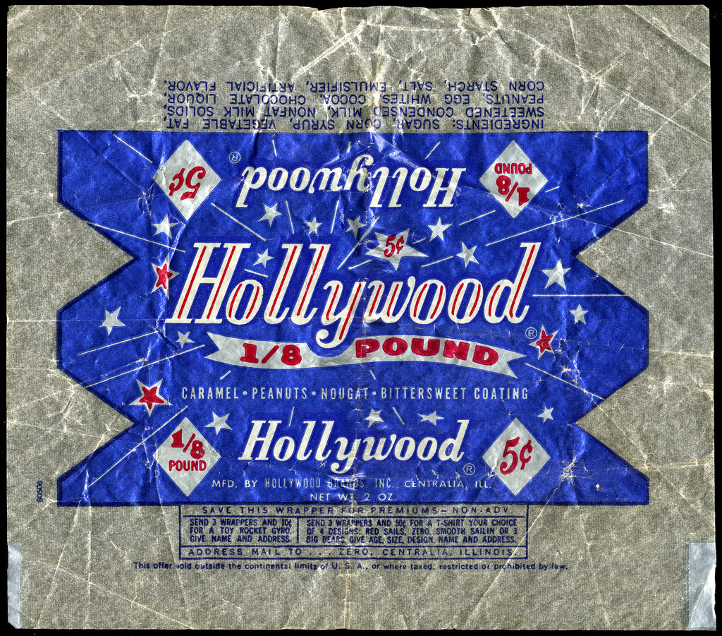 Hollywood Brands - Hollywood 1/8 pound 5-cent candy bar wr