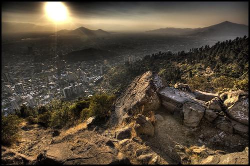chile city santiago sun america lights san south hdr independencia quintanormal cerronavia cristobál