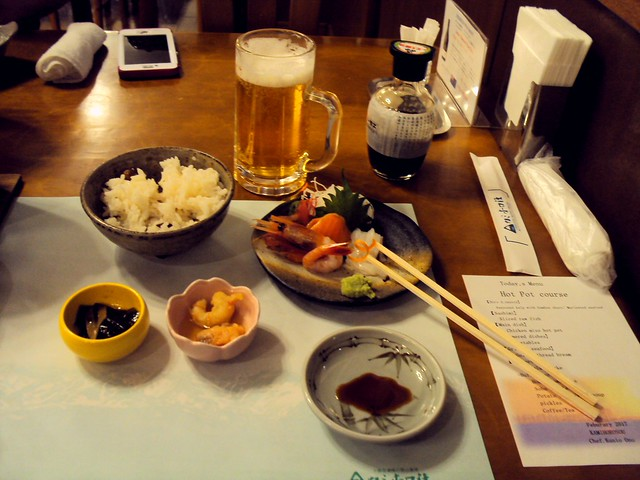 Dinner at Kamihoroso Onsen; the main course is not pictured by bryandkeith on flickr