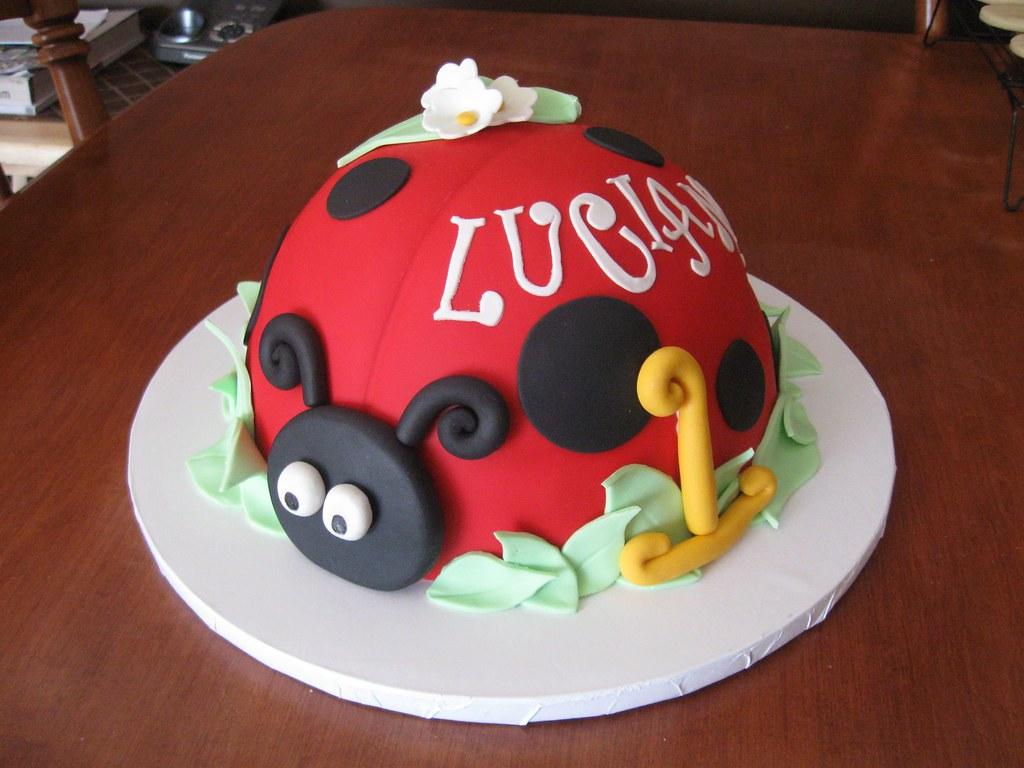 Miraculous Lucianas 1St Birthday Ladybug Cake Jeannettes Custom Cakes Funny Birthday Cards Online Kookostrdamsfinfo