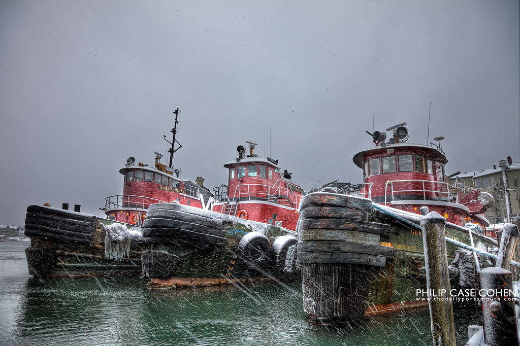Snow Laden Tugboats by Philip Case Cohen