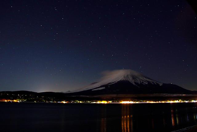 Mt. Fuji in the Moonlight
