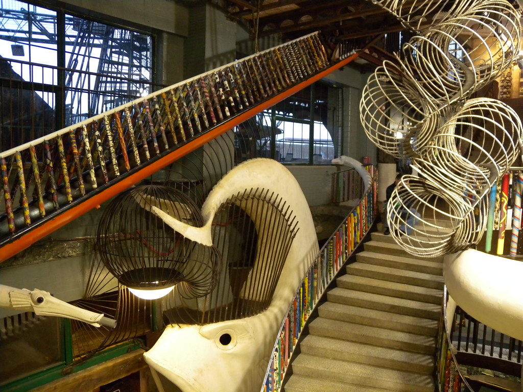 Several ways to ascend and descend   At the City Museum in S