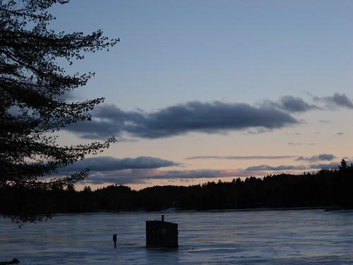 sunset bryantpond