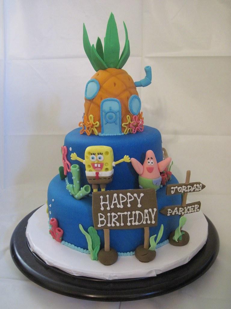 Fantastic Spongebob Squarepants Cake Spongebob Squarepants Birthday Flickr Birthday Cards Printable Inklcafe Filternl