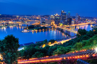 Downtown Pittsburgh at Night from Duqeusne Incline | by Photomatt28
