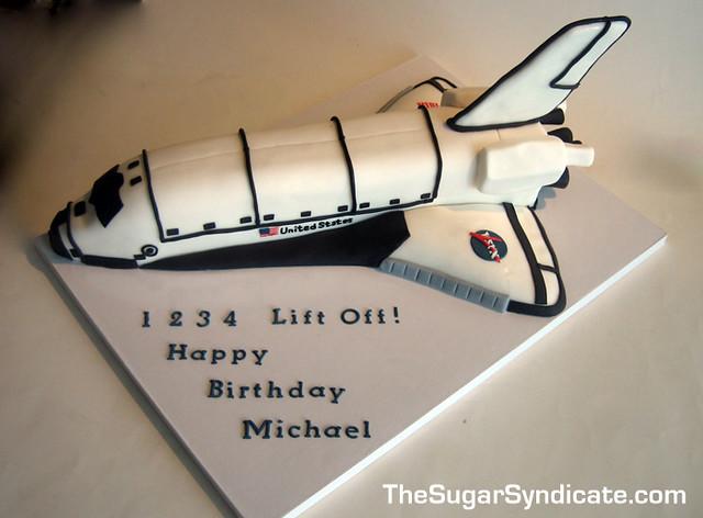 Prime Space Shuttle Birthday Cake C The Sugar Syndicate Custom C Flickr Personalised Birthday Cards Vishlily Jamesorg