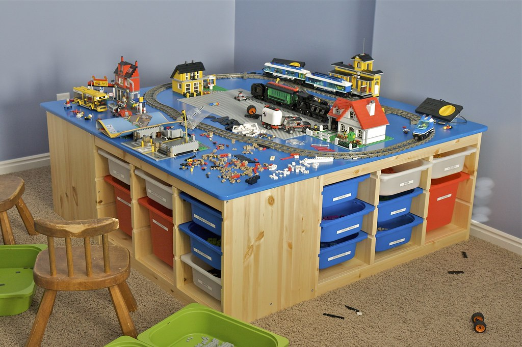 Christmas Lego Table This Is The Table I Built For My Kids