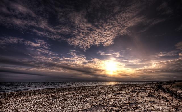Pierwszy zachód słońca w 2010 r. :)