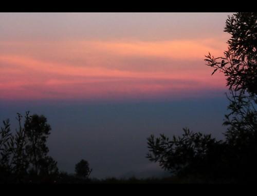 blue sunset red orange india canon twilight silhoutte tamil tamilnadu coimbatore kovai 1000d