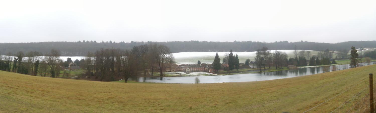 Farm in the valley Chorleywood to Chesham Below Latimer House