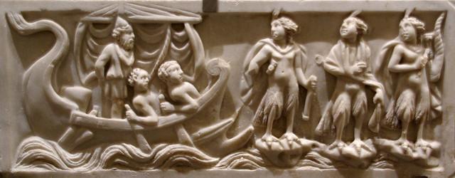 Relleu d'Ulisses i les sirenes, Museo nazionale romano nelle Terme di Diocleziano, Roma