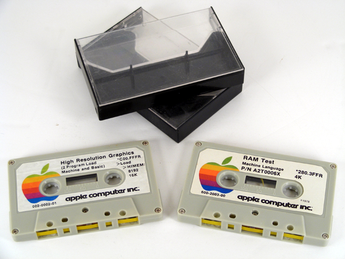 Apple II RAM test cassette tapes