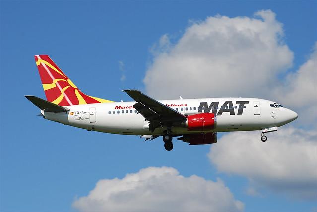 MAT Macedonian Airlines Boeing 737-500; Z3-AAH@ZRH;09.08.2008/525bs