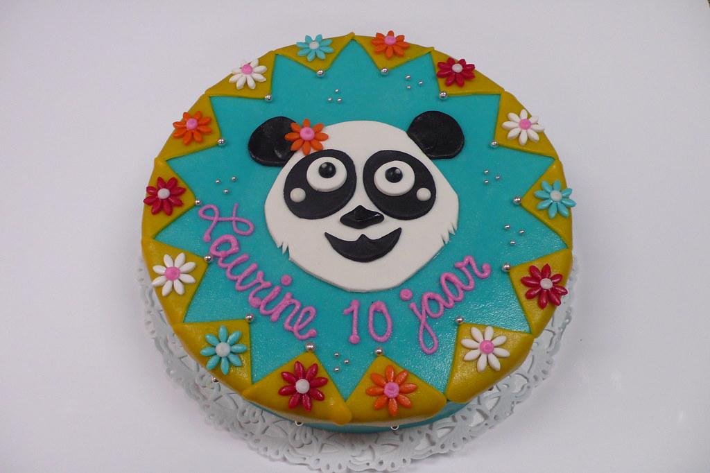 Groovy Panda Bear Birthday Cake Zoe Elizabeth Gottehrer Flickr Funny Birthday Cards Online Inifofree Goldxyz