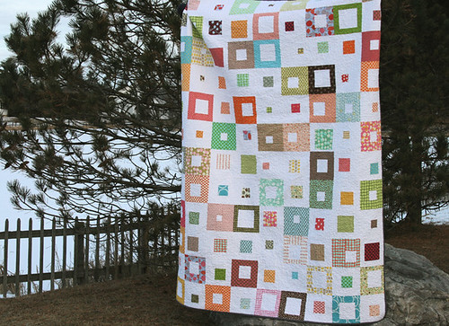 spotted squares quilt - twin sized | by filminthefridge
